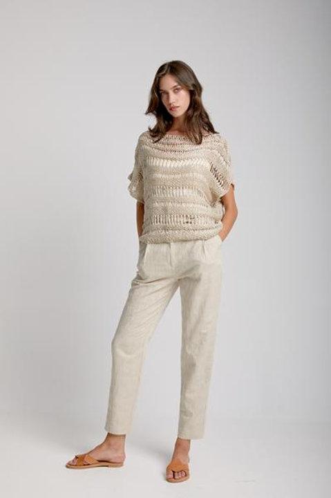 Moutaki open knit top
