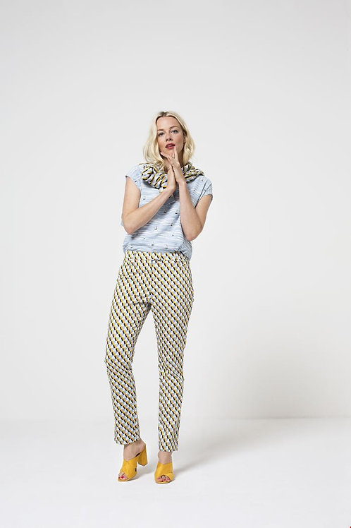 Zilch geometric print trousers
