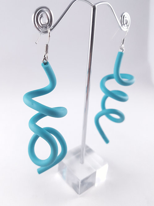Samuel Coraux Zig Squiggle earrings matt
