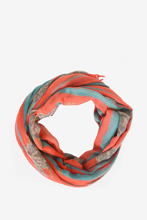 Abbacino Carbo Red Print Scarf