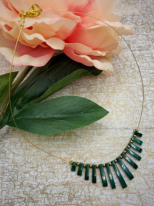 Emma Parker Jewellery Alicia Necklace Malachite
