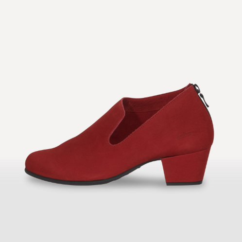 Arche Malham low heeled shoe boot in red nubuck