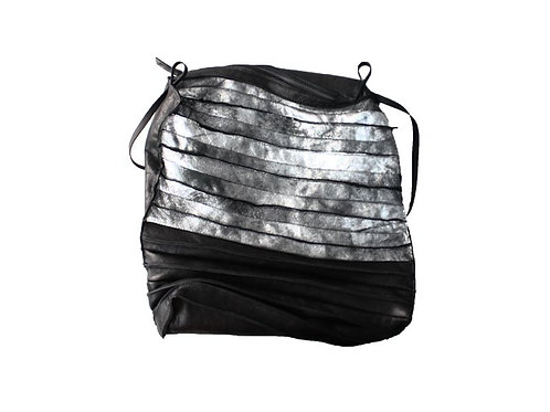 Papucei large pleated leather bag