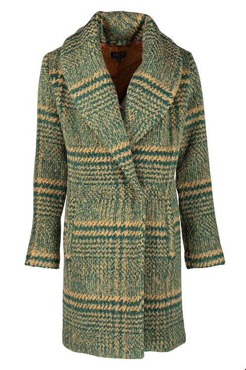 Zilch wool mix checked coat