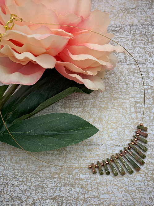 Emma Parker Jewellery Alicia Necklace Unakite