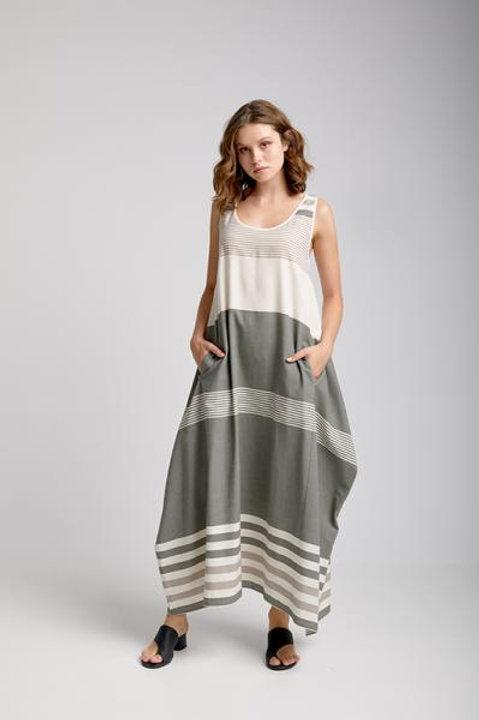 Moutaki striped balloon dress