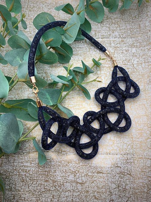 Emma Parker Jewellery Naia Knot Necklace Midnight