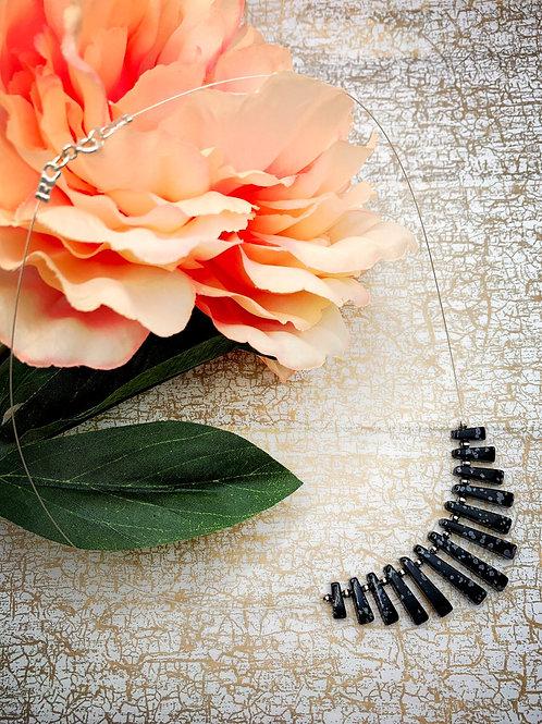Emma Parker Jewellery Alicia Necklace Snowflake Obsidian