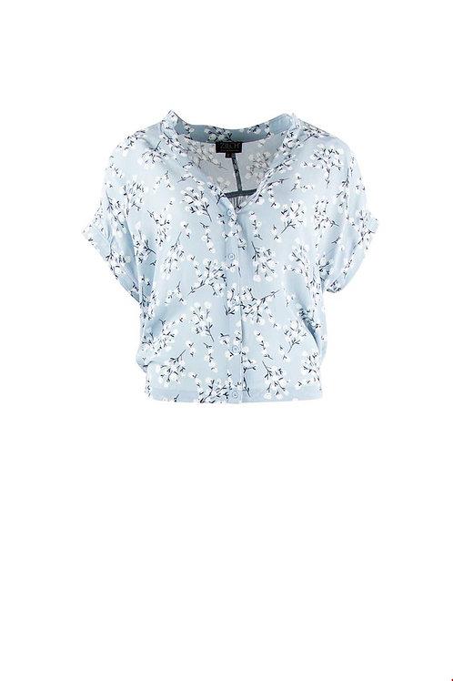 Zilch short sleeve chiffon blouse