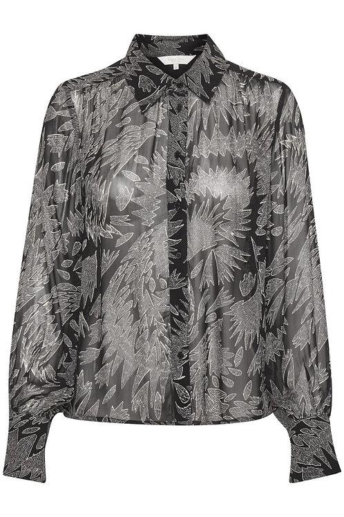 PartTwo Esma zigzag chiffon shirt