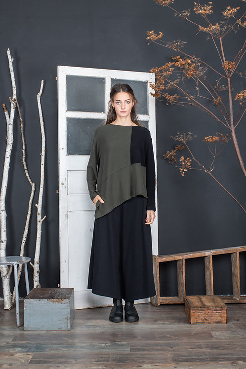 Mama b asymmetric top in sage and olive