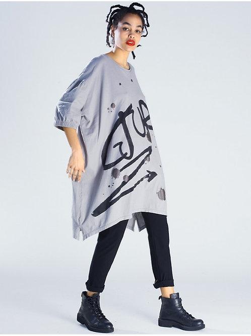 Lurdes Bergada oversized tunic with print M20 820
