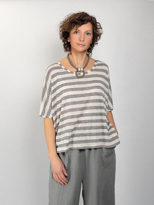 Neirami striped linen knit top