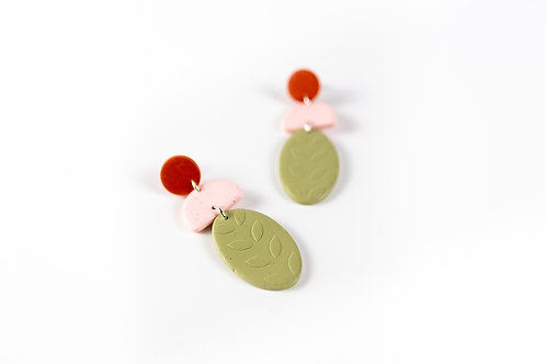 Nadege Honey Botanica Earrings Sage
