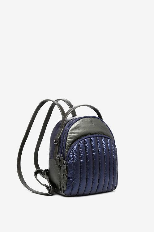 Abbacino Backpack in metallic grey and blue
