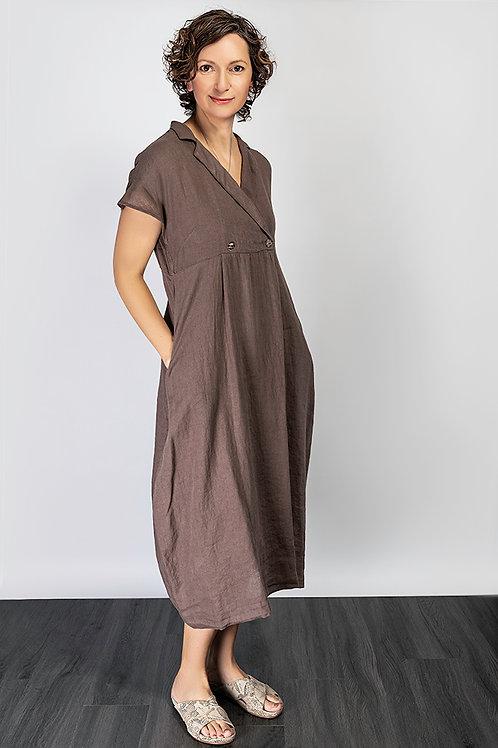 Neirami linen shirt dress