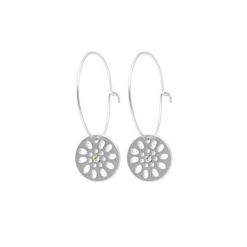 Dansk Smykkekunst Daisy Hoop Earrings
