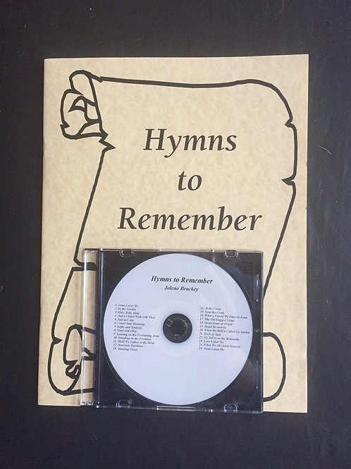 Hymns to Remember CD and Songbook