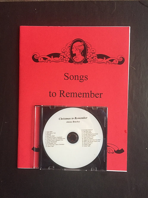Songs to Remember CD and Songbook