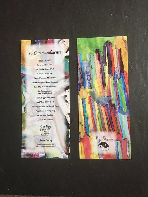 13 Commandments Bookmark