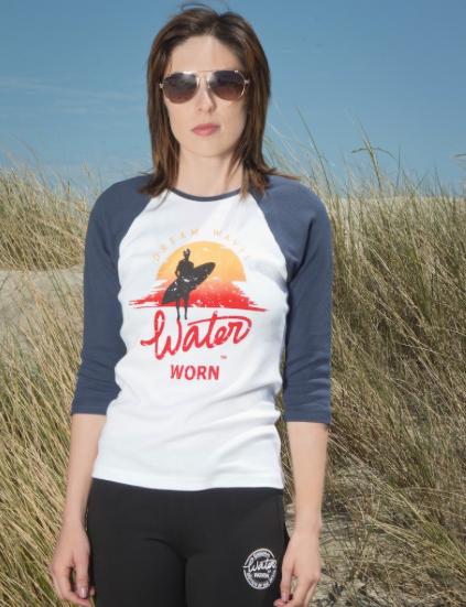 Dream Waves 3/4 Sleeve Baseball T-shirt