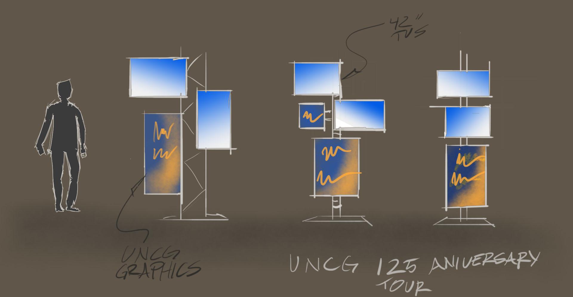 uncg 125 tv stands