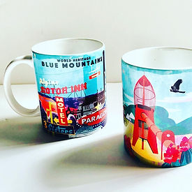 Blue Mountains mugs by Mount Vic and Me.