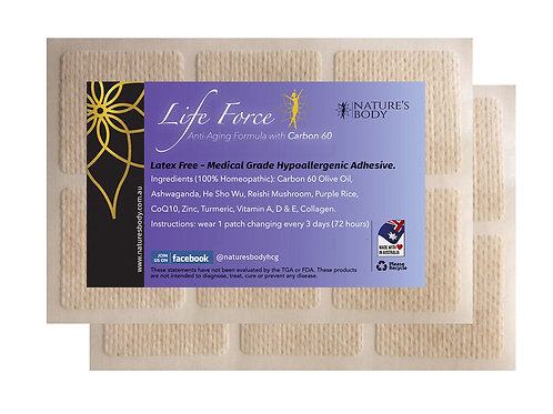 LIFE FORCE - Anti-Aging Skin Patch (Each Patch Lasts 7 Days)