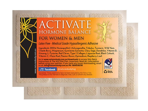 Activate HORMONE BALANCE - Natural HRT Patch (Gel Patches - 7 Days Each)