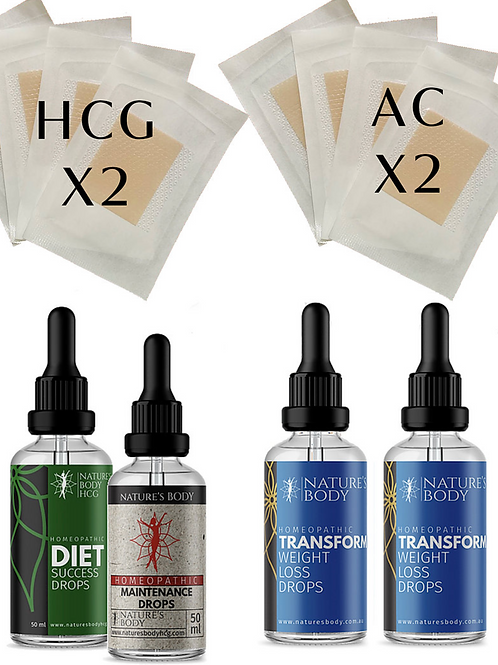 Ultimate Weight Loss Supercharge Kit - Drops & Patches COMBO