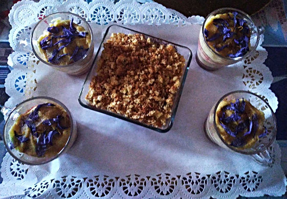 Tiramisu cake with saffron
