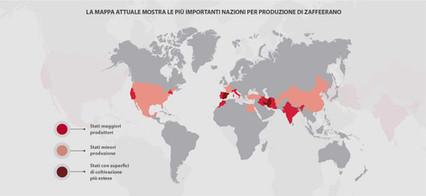 Mappa produzione zafferano nel mondo