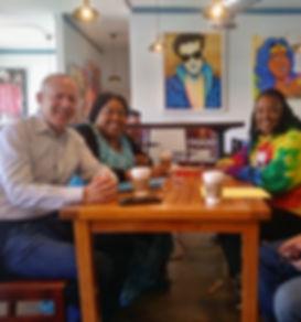 Mayor of Sacrameto at Broadway Coffee Sa