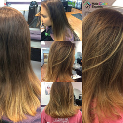 Balayage with lightener only