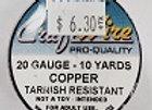 20 gauge Copper
