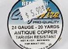 24 gauge Antique Copper