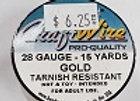 28 gauge Gold