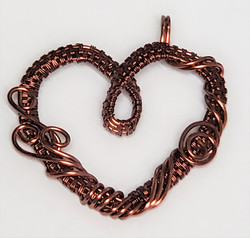 Wire woven heart