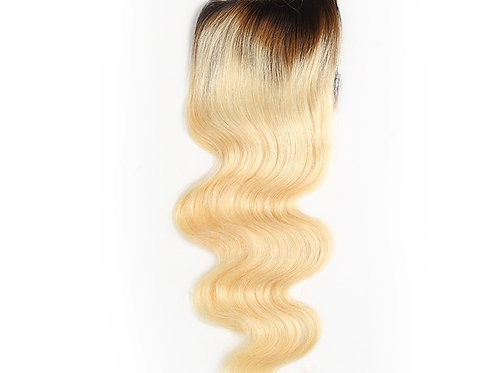 "Eurasian Body Wave Lace Closure ""Ombre Blonde"""