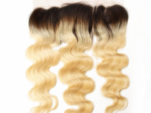 """Eurasian Body Wave Lace Frontal """"Ombre Blonde"""""""