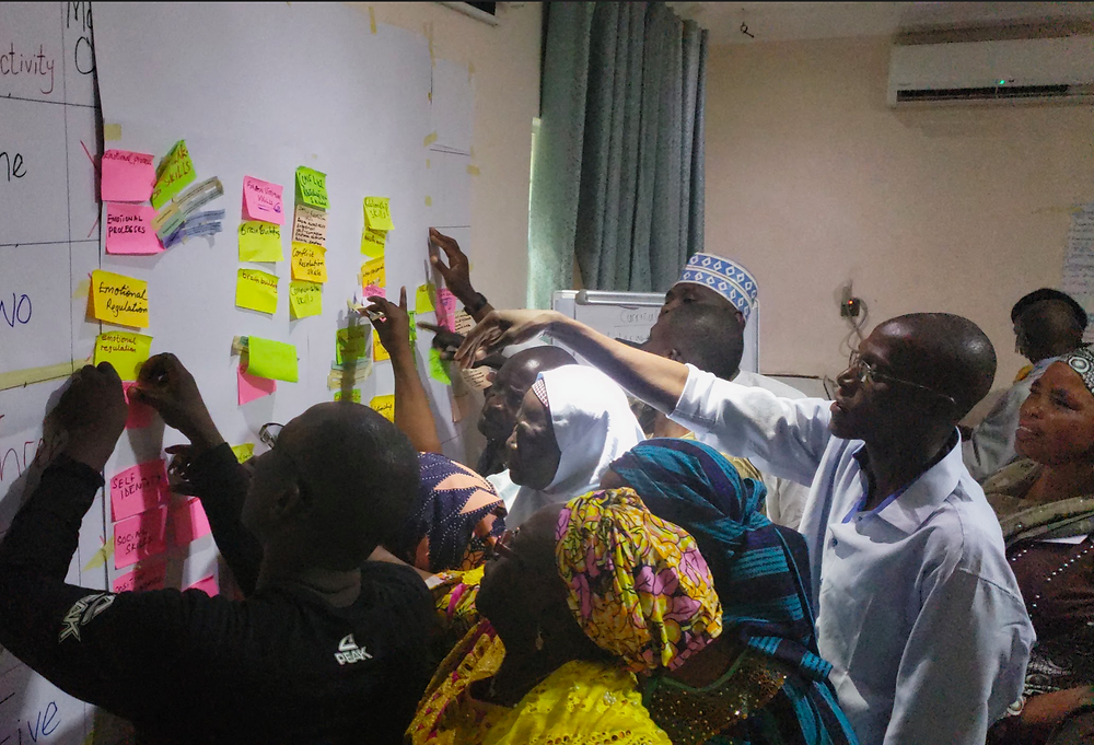 Stakeholders participating on the sorting activity