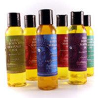 Buddhalicious Bath, Body & Massage Oil ($9/ea)