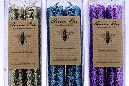 Queen Bee Glitter Candles 3ct ($8.50/ea)