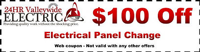 24Hr Valleywide Electric Phoenix Electrician $100 off Electrical Panel  Change