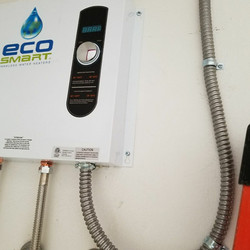 Tankless water heater install electric