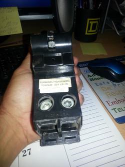 ELECTRICAL MAIN BREAKER REPLACMENT
