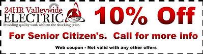Peoria AZ Electrical Contractor, Senior Citizens Electrical Discounts