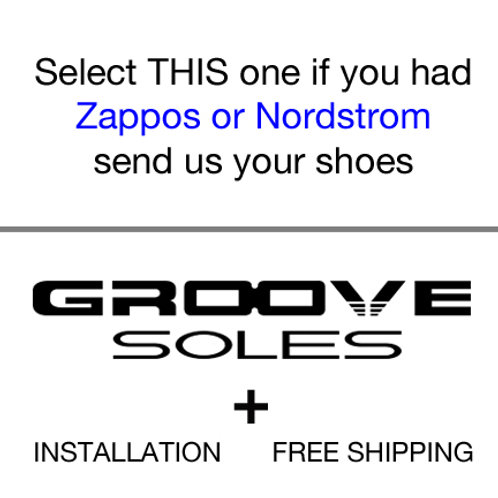 Groove Soles for shoes via Zappos or Nordstrom