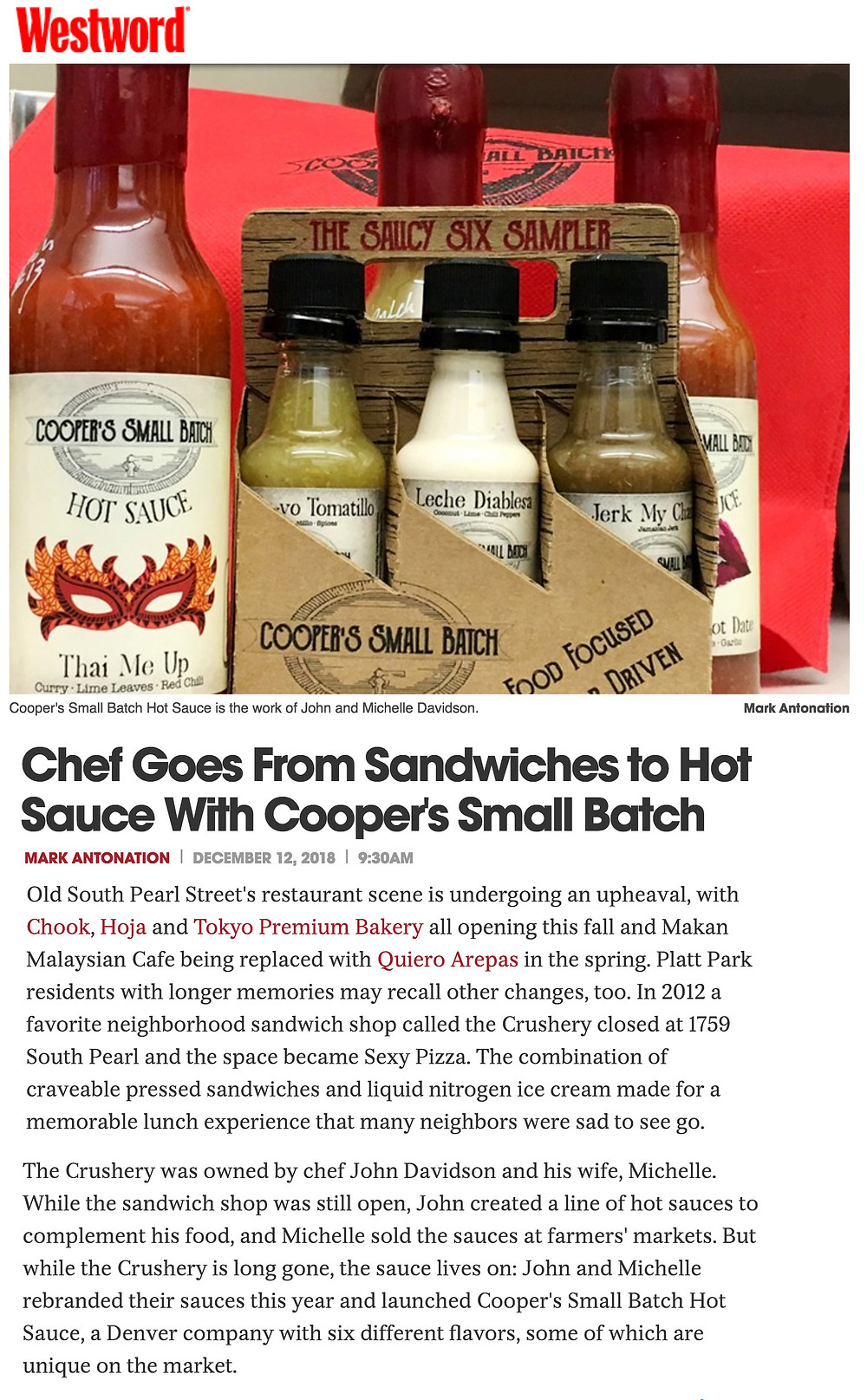 Best Colorado Hot Sauce 2019 - Denver Westword's Review