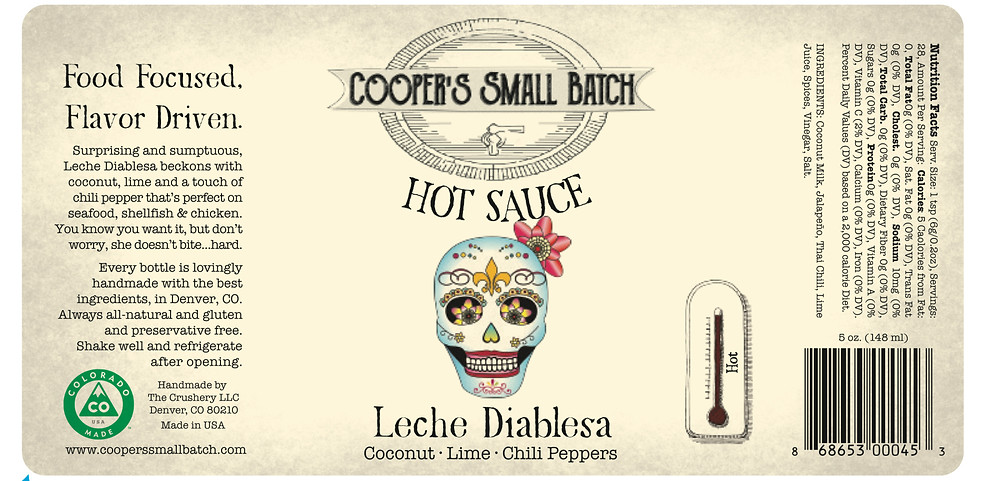 Healthy White Hot Sauce: Leche Diablesa